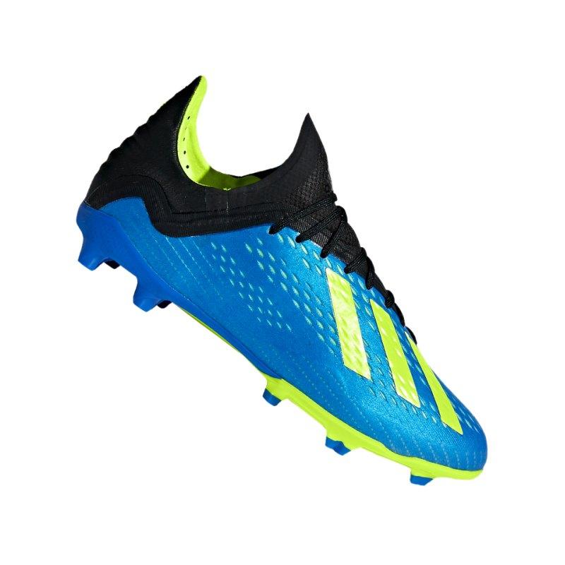 adidas X 18.1 FG J Kids Blau Gelb - blau