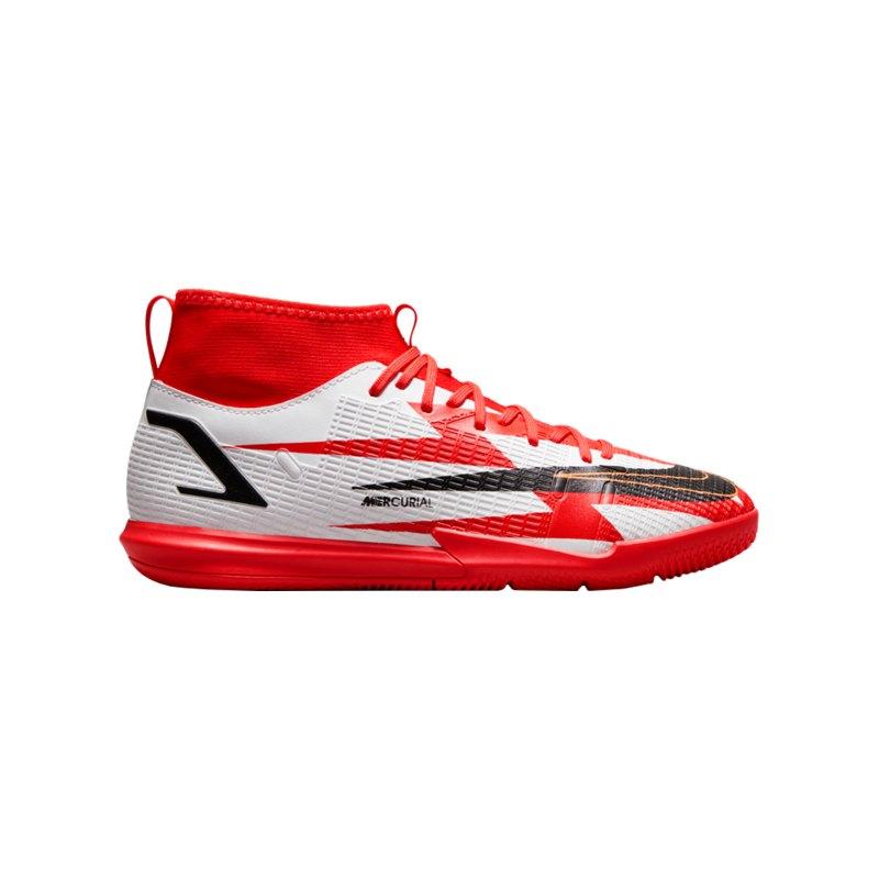 Nike Jr Mercurial Superfly VIII Academy CR7 IC Kids Rot F600 - rot