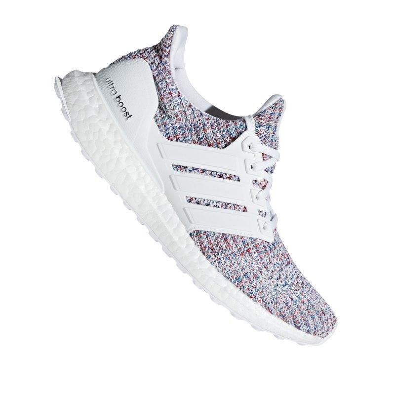 adidas Ultra Boost Running Damen Weiss Rot - weiss