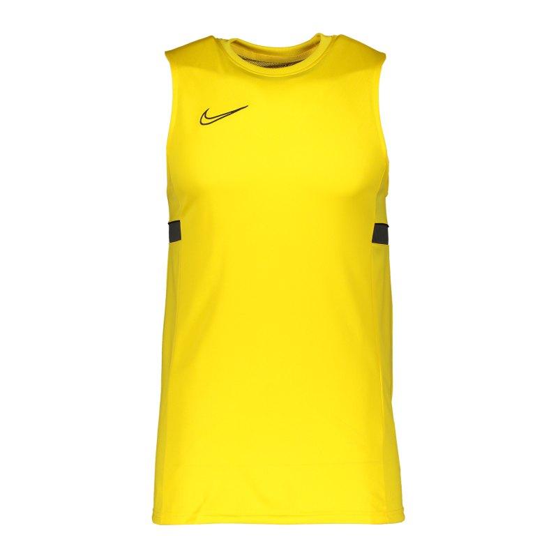 Nike Academy 21 Tanktop Gelb Schwarz F719 - gelb