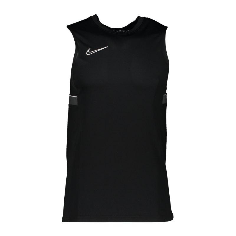 Nike Academy 21 Tanktop Schwarz Weiss F014 - schwarz