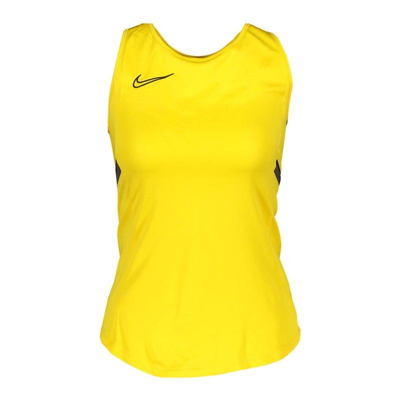 Nike Academy 21 Tanktop Damen Gelb Schwarz F719 - gelb