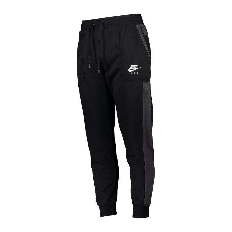Nike Air Fleece Jogginghose Schwarz Grau F011 - schwarz