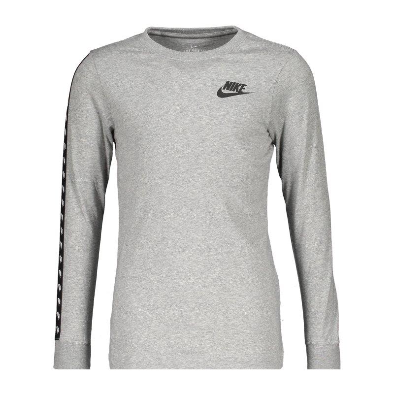 Nike Taping Sweatshirt Kids Grau F063 - grau