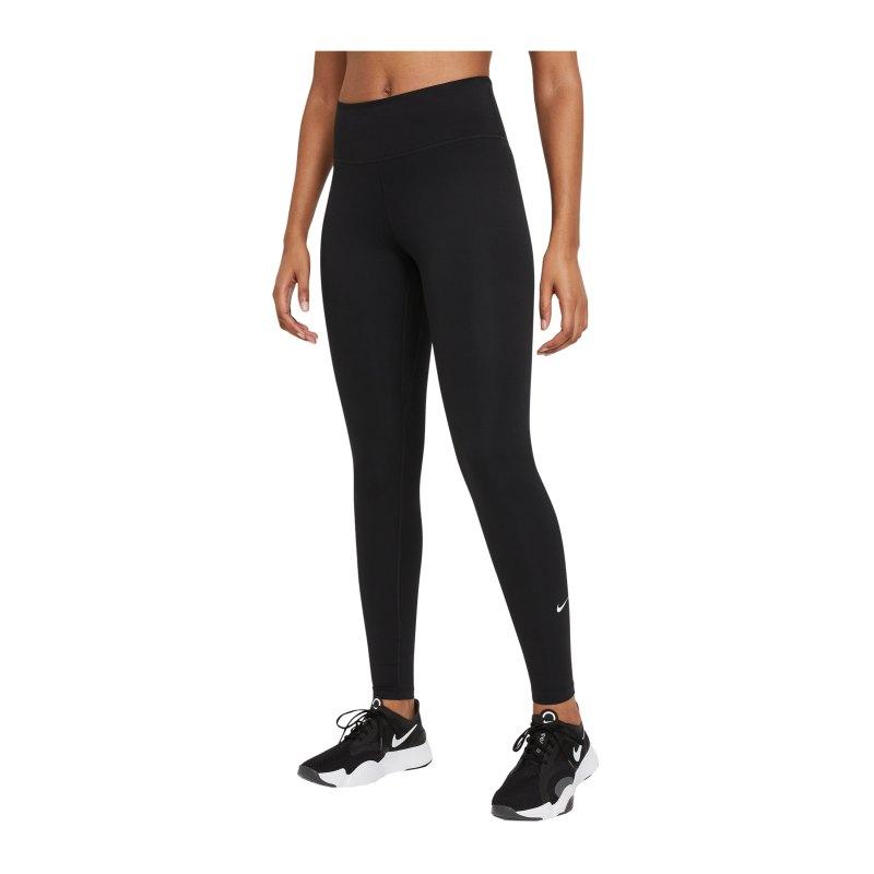 Nike One Leggings Training Damen Schwarz F010 - schwarz