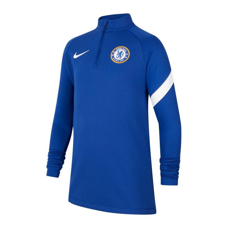 Nike FC Chelsea London Drill Top Kids Blau F495 - blau