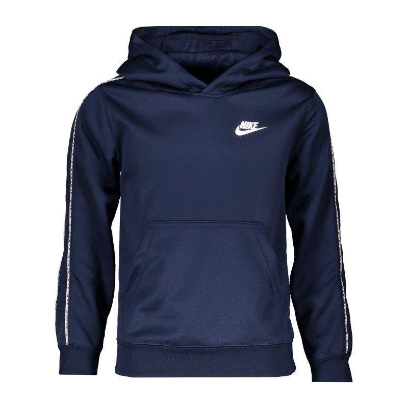 Nike Repeat Hoody Kids Blau Weiss F410 - blau