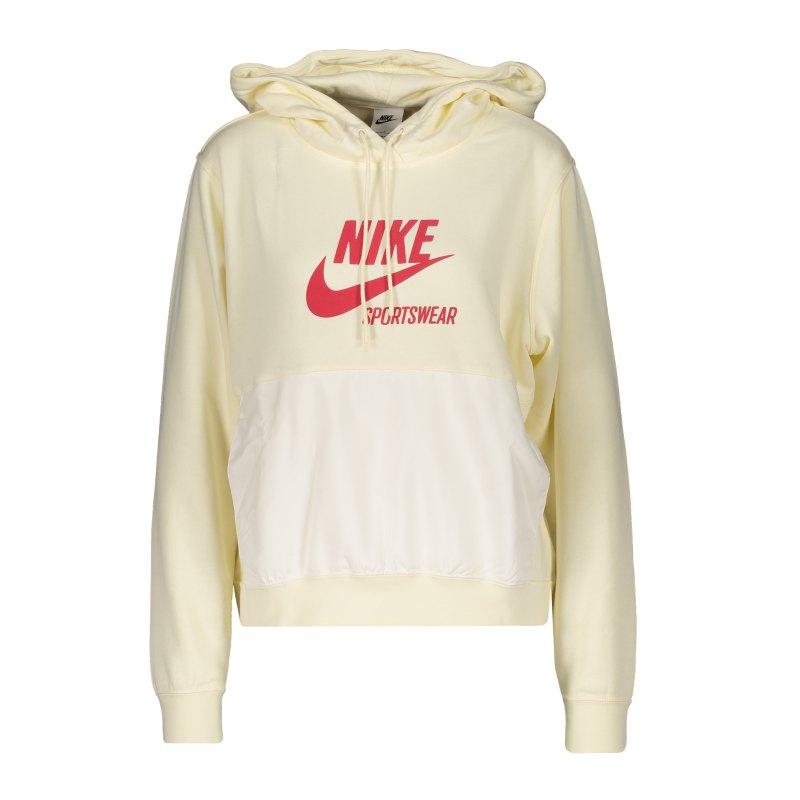 Nike Heritage Hoody Damen Gelb F715 - gelb