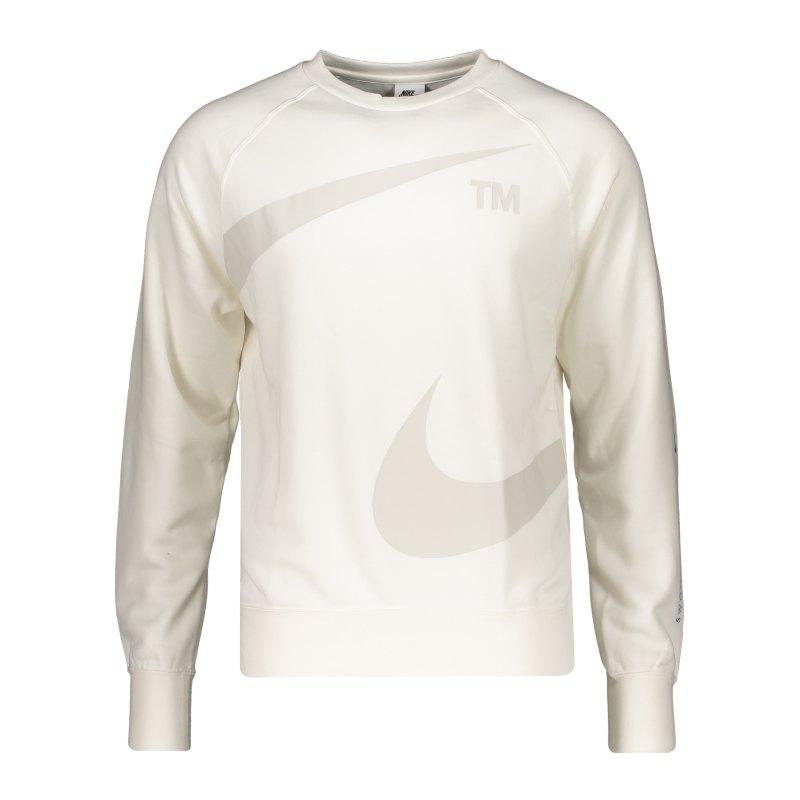 Nike Swoosh Fleece Sweatshirt Weiss F133 - weiss
