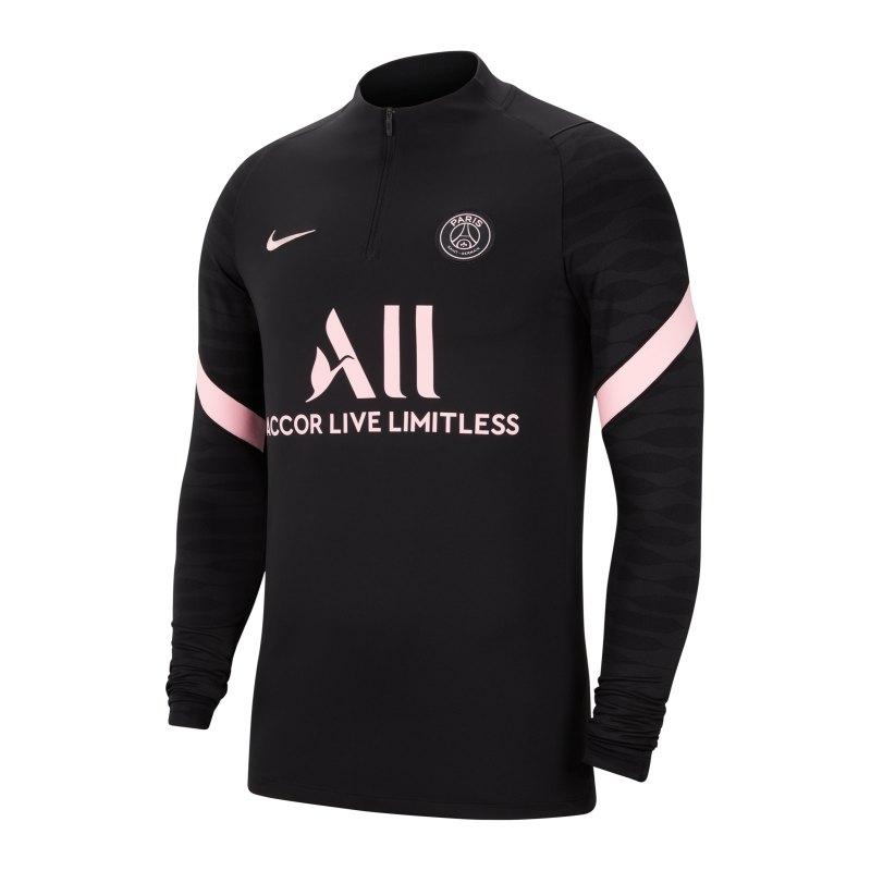Nike Paris St. Germain Drill Top Schwarz F011 - schwarz