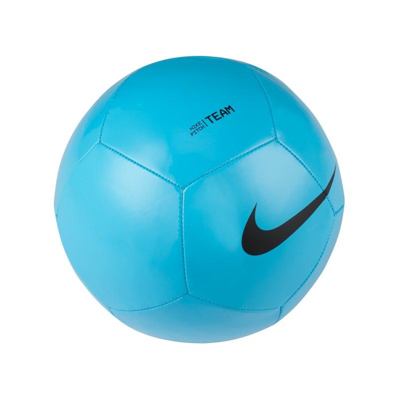 Nike Pitch Team Trainingsball Blau Schwarz F410 - blau