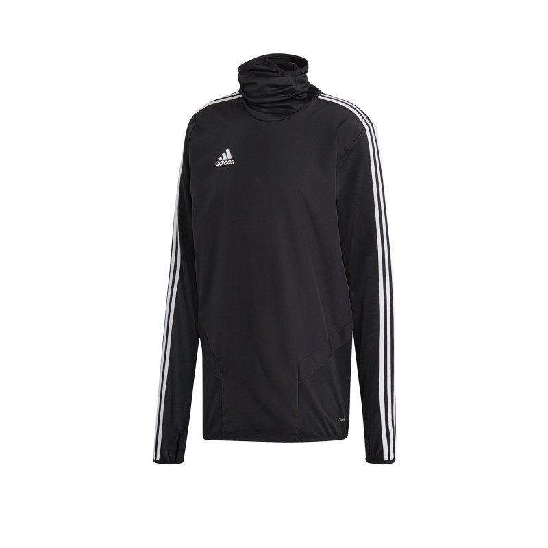 adidas Tiro 19 Warm Top Sweatshirt Schwarz Weiss - schwarz