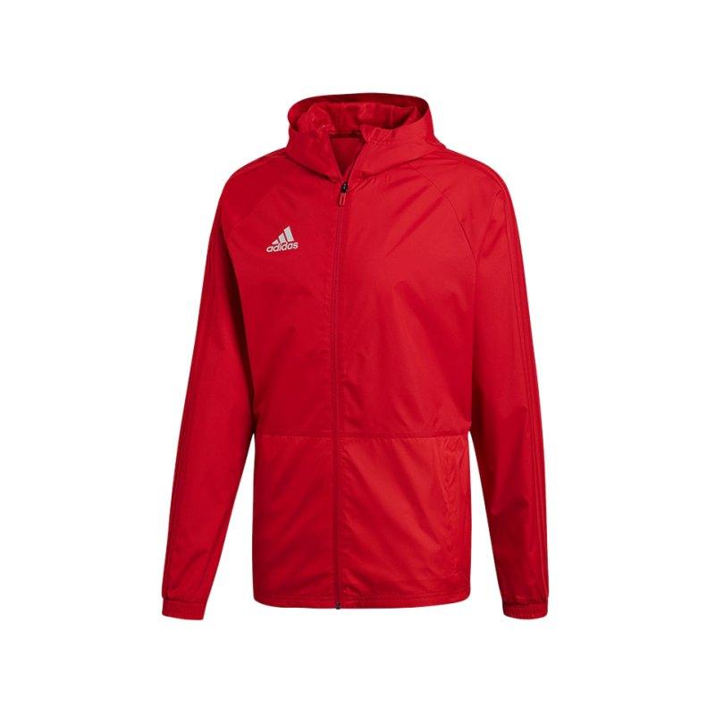 adidas Condivo 18 Rainjacket Regenjacke Rot Weiss - rot