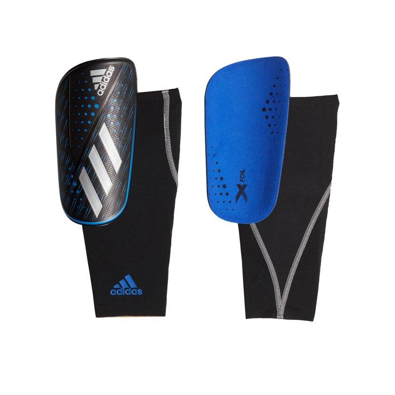 adidas X Foil Schienbeinschoner Blau Schwarz - blau