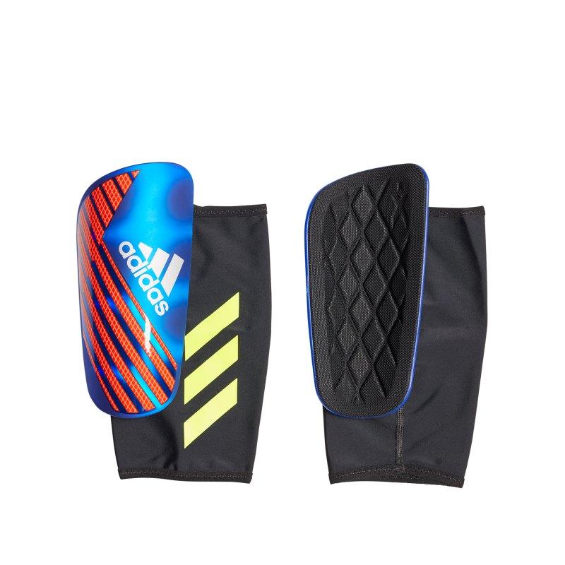 adidas X Pro Schienbeinschoner Blau Rot - blau