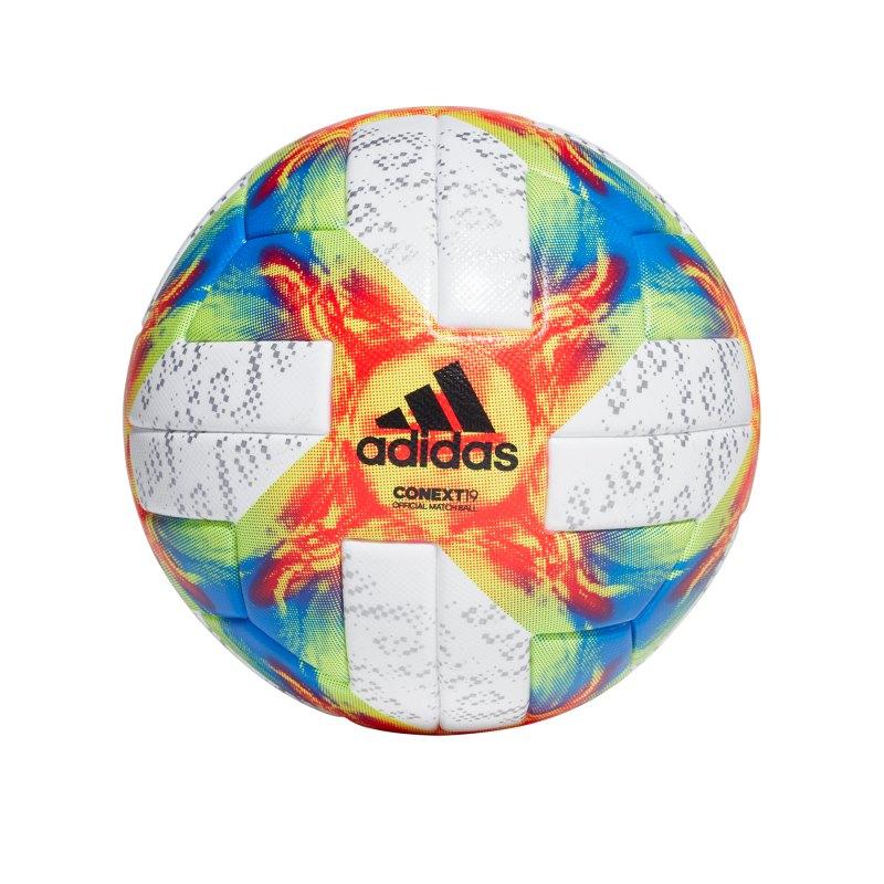 adidas Conext 19 OMB Spielball Weiss Gelb - weiss