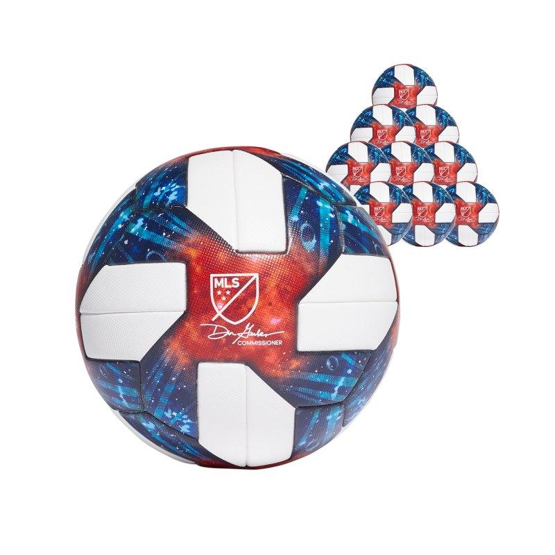 adidas MLS OMB 10x Spielball Weiss - weiss
