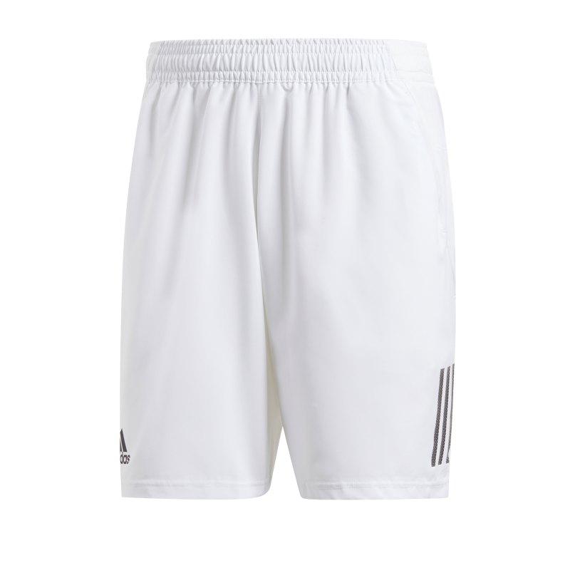 adidas Club 3 Stripes Short Weiss Schwarz - weiss