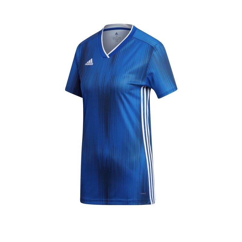 adidas Tiro 19 Trikot kurzarm Damen Blau Weiss - blau