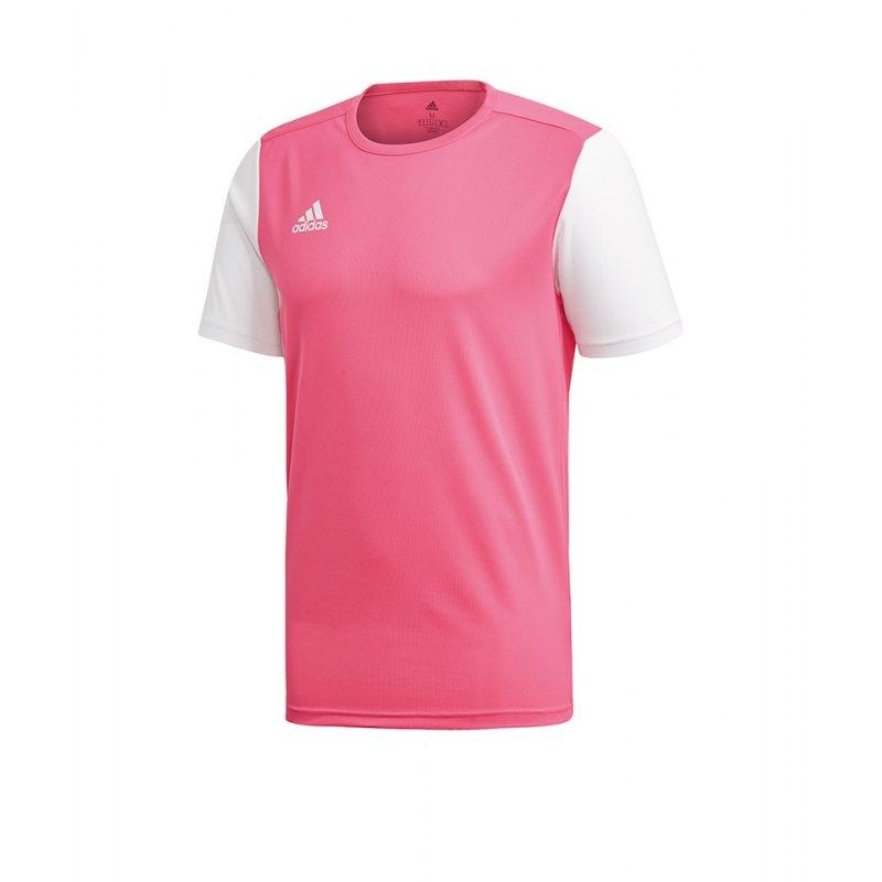 adidas Estro 19 Trikot kurzarm Pink Weiss - pink