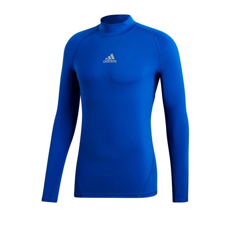 adidas Alphaskin Mock Warm langarm Blau - blau
