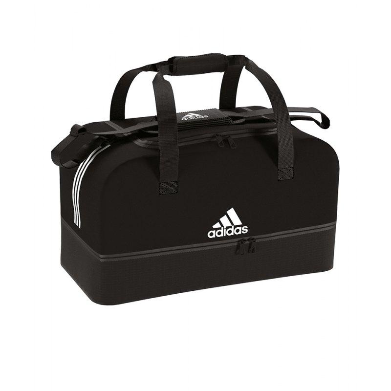 adidas Tiro Duffel Bag Gr. S mit Bodenfach Schwarz - schwarz