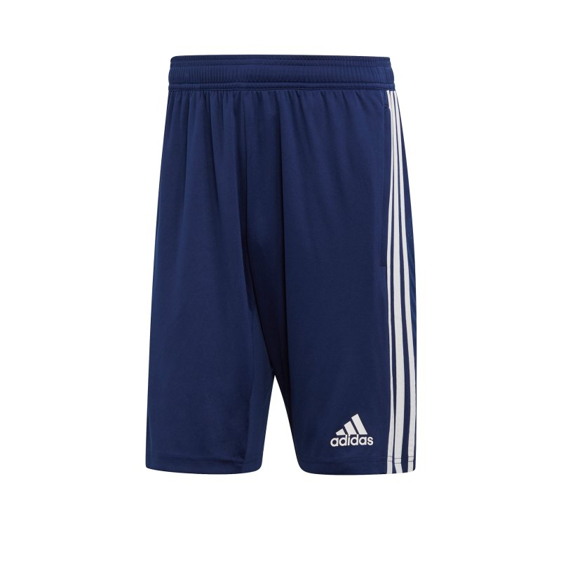 adidas Tiro 19 Trainingsshort Dunkelblau Weiss - blau