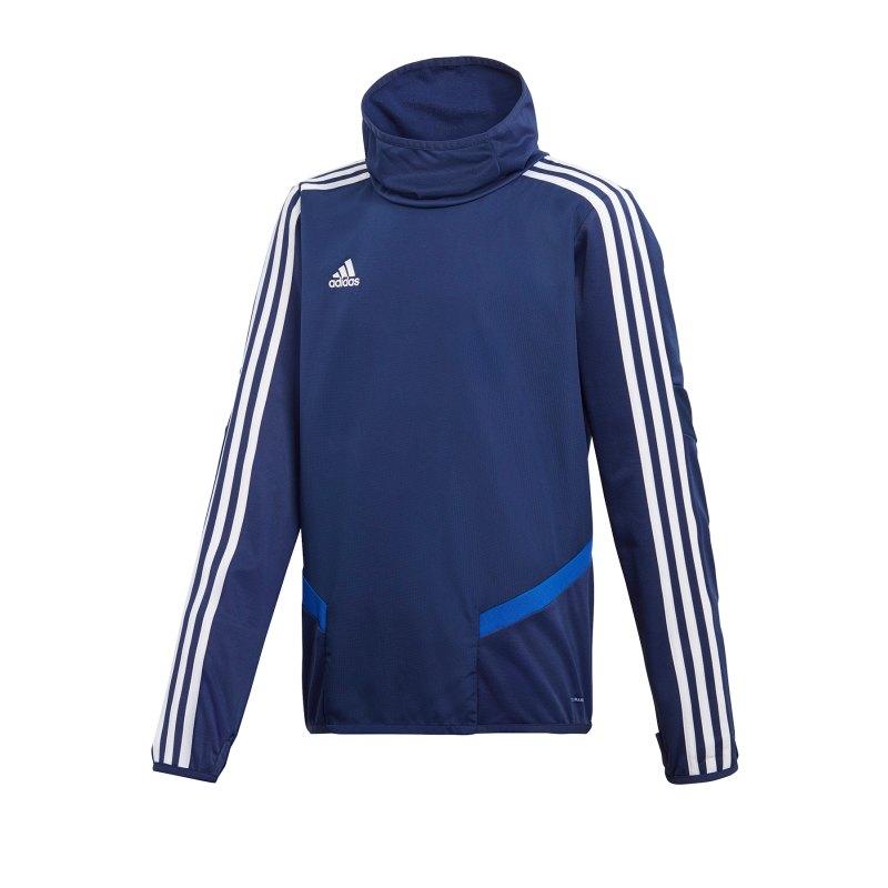 adidas Tiro 19 Warm Top Sweatshirt Kids Dunkelblau - blau
