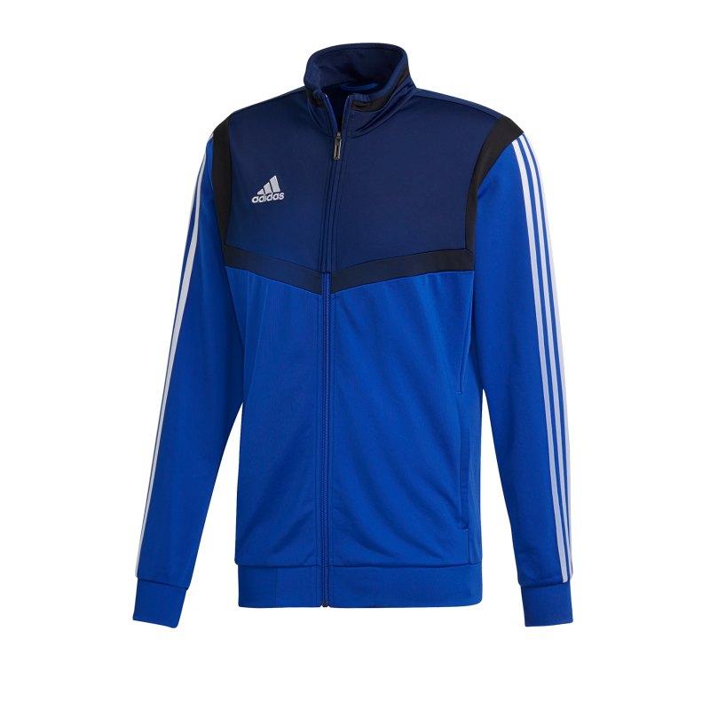 adidas Tiro 19 Polyesterjacke Blau Weiss - blau