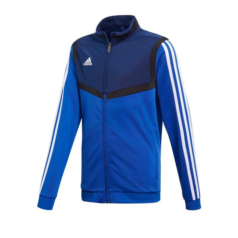 adidas Tiro 19 Polyesterjacke Kids Blau Weiss - blau