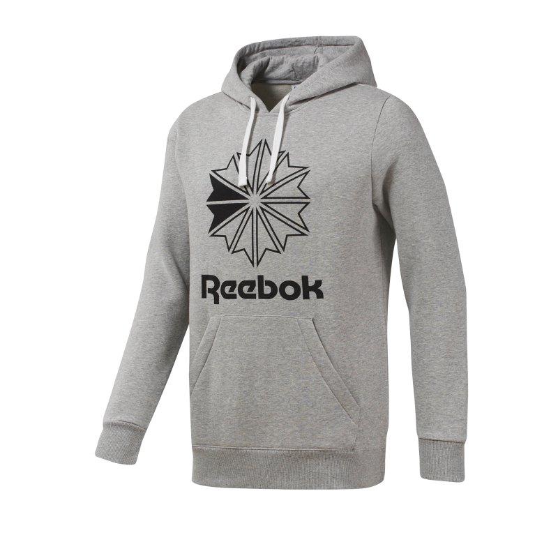 Reebok Classics Big Logo Kapuzensweatshirt Grau - grau