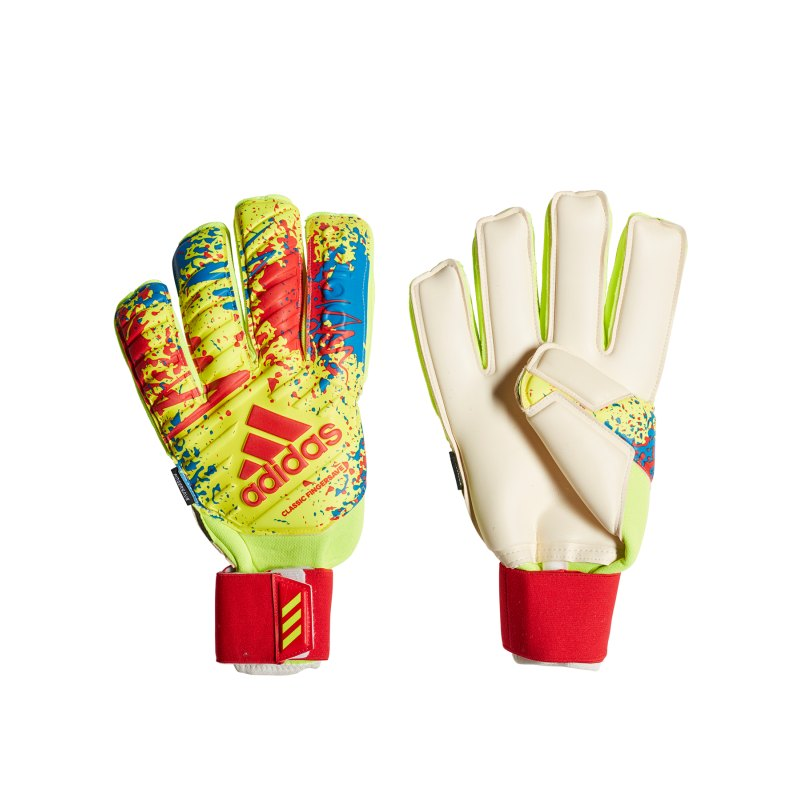 adidas Classic Pro Fingersave TW-Handschuh Gelb - gelb