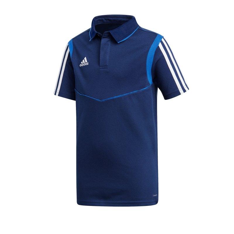 adidas Tiro 19 Poloshirt Kids Dunkelblau - blau
