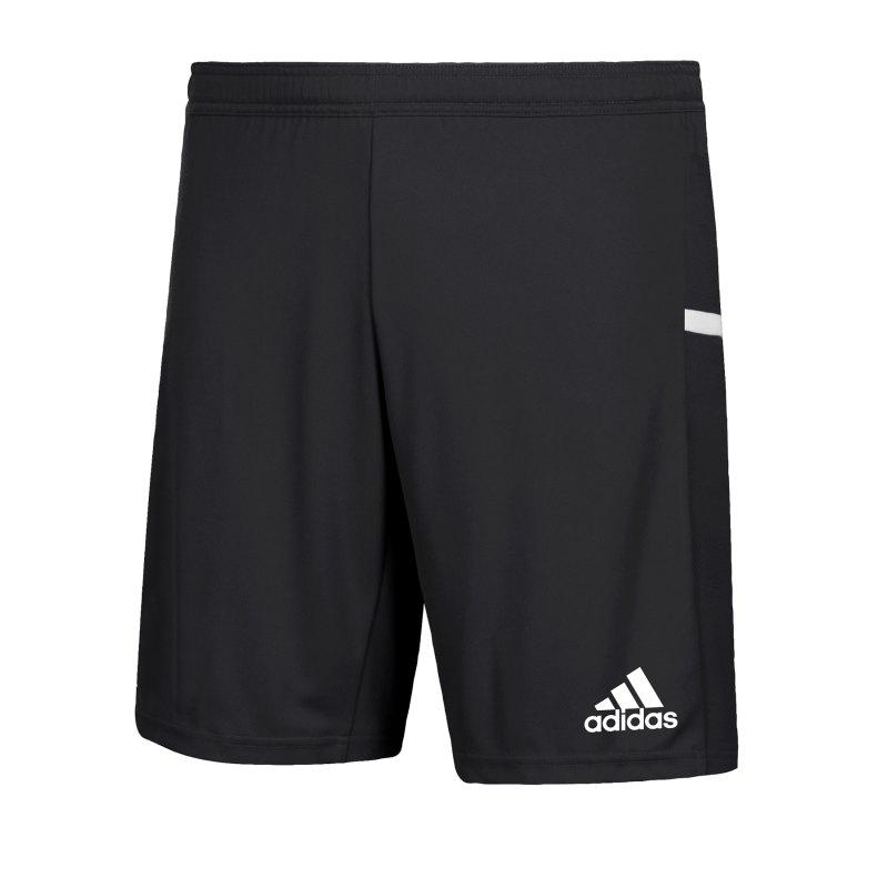 adidas Team 19 Knitted Short Schwarz Weiss - schwarz