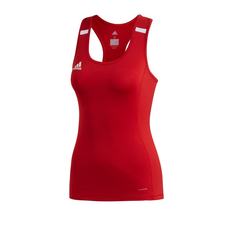 adidas Team 19 Tank Top Damen Rot Weiss - rot