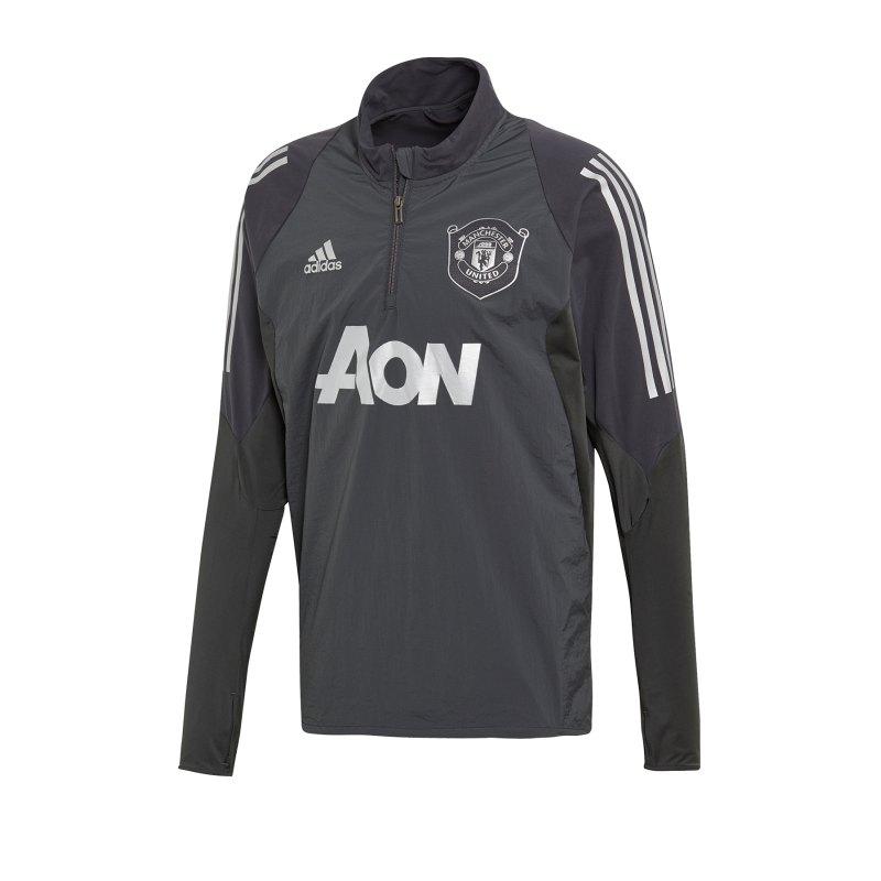 adidas Manchester United 1/4 Zip Top Schwarz - schwarz