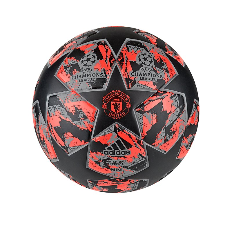 adidas Manchester United Finale Miniball Rot - schwarz