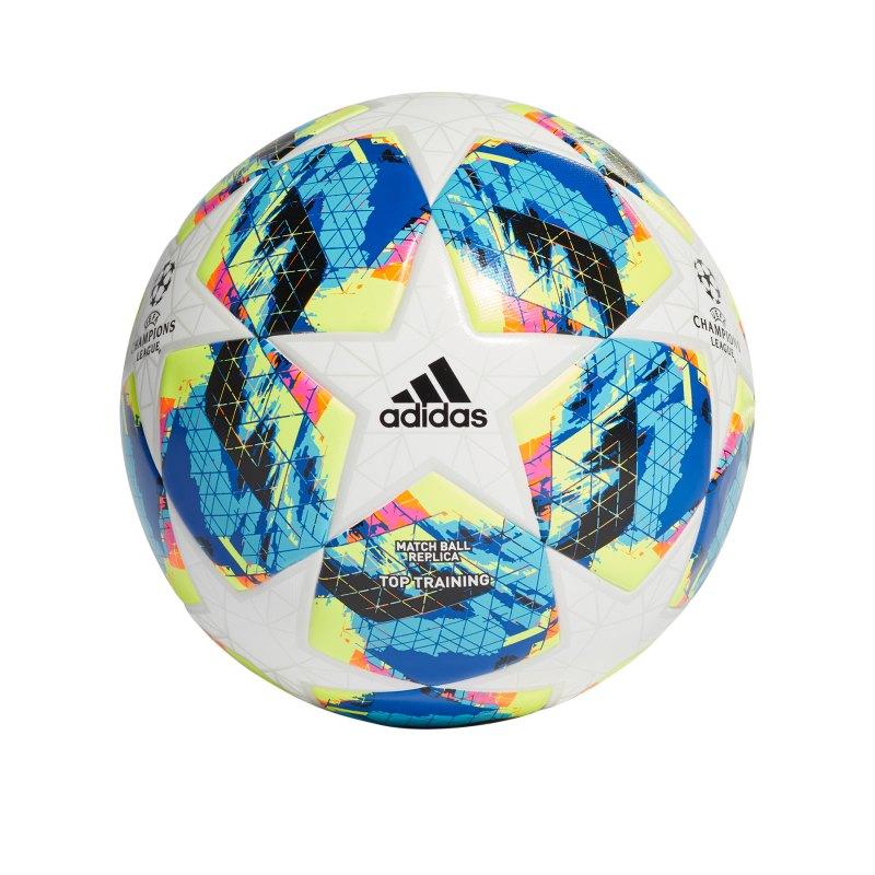adidas Finale Trainingsball Weiss Gelb - weiss