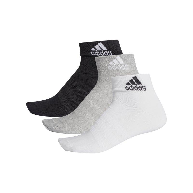 adidas Light Ank Socken 3er Pack Grau - grau