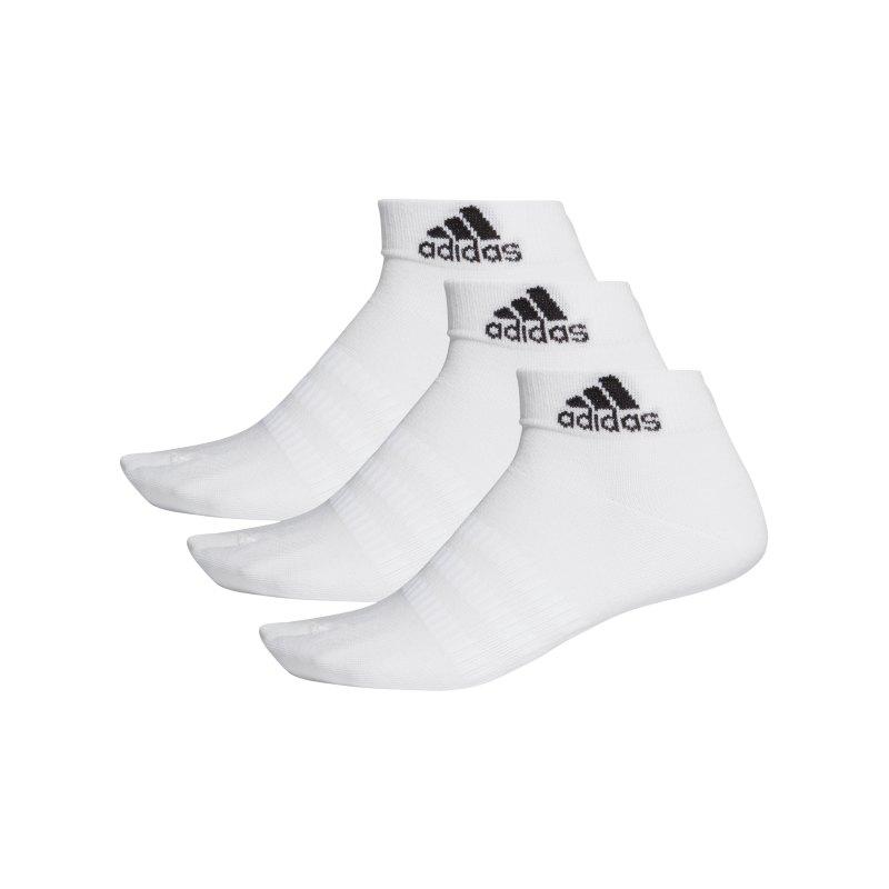 adidas Light Ank Socken 3er Pack Weiss - weiss