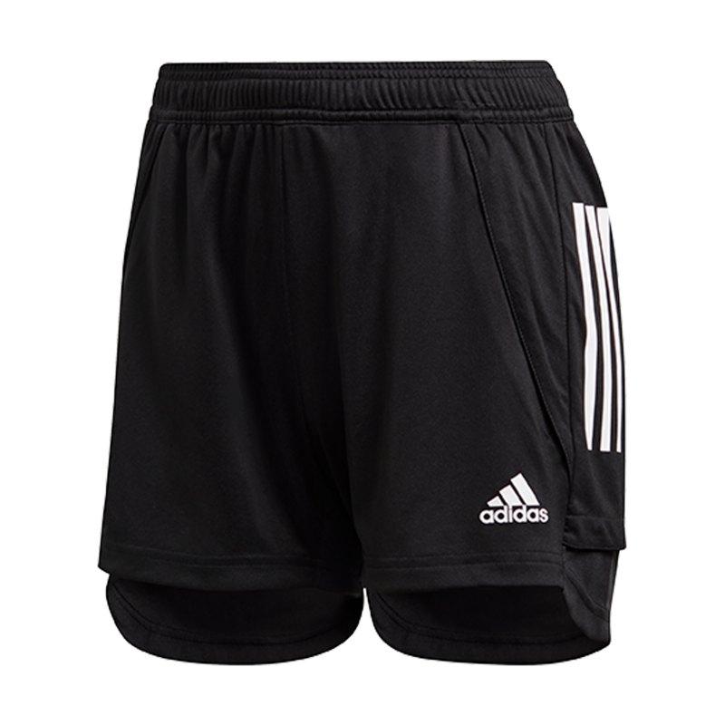adidas Condivo 20 Short lang Damen Schwarz Weiss - schwarz