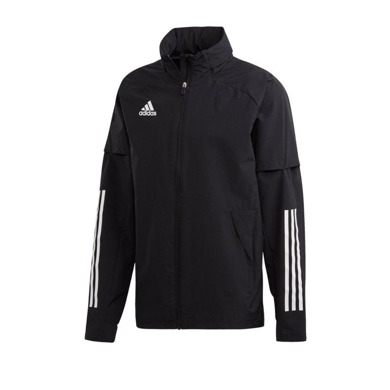 adidas Condivo 20 Allwetterjacke Jacke Schwarz - schwarz