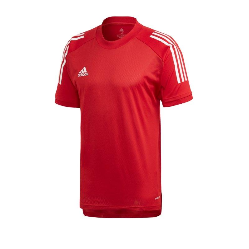 adidas Condivo 20 TR Shirt kurzarm Rot Weiss - rot