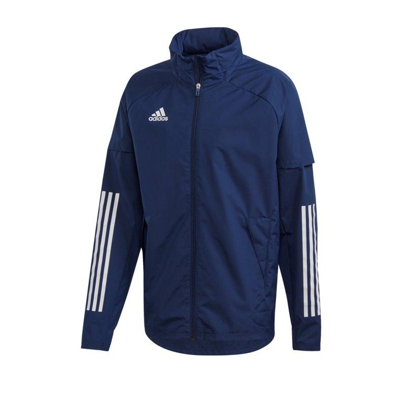 adidas Condivo 20 Allwetterjacke Blau Weiss - blau
