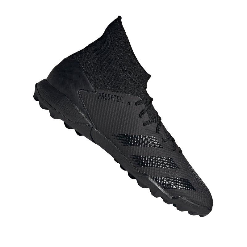 adidas Predator 20.3 TF Schwarz Grau - schwarz