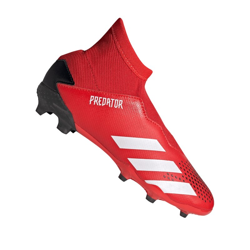 adidas Predator 20.3 LL FG J Kids Rot Schwarz - rot