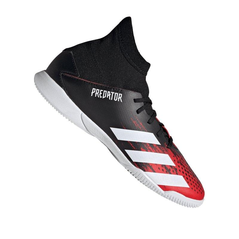 adidas Predator 20.3 IN Halle J Kids Schwarz Rot - schwarz