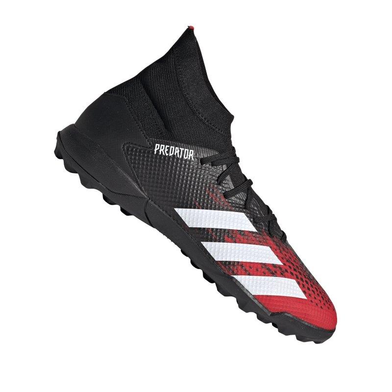 adidas Predator Mutator 20.3 TF Schwarz Rot - schwarz