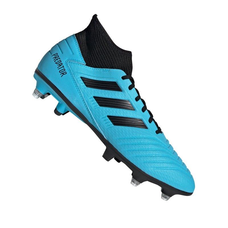adidas Predator 19.3 SG Blau Schwarz - blau