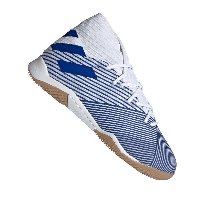 adidas NEMEZIZ 19.3 IN Halle Weiss Blau - weiss